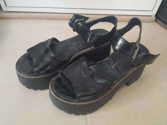 Sandalias Negras Talle 39 Usadas