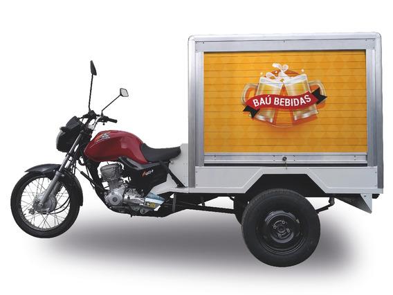 Triciclo Carga Baú Bebidas 160cc 2019 2019 300kg C/ Adesivo