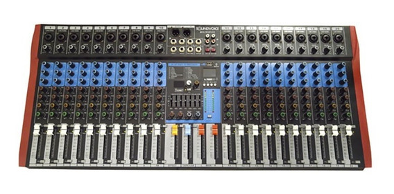 Mesa De Som Soundvoice 20 Canais Ms202 Eux C/ Efeitos Ms0062