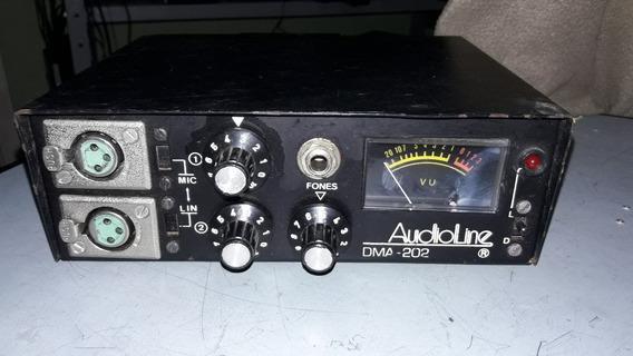 Misturador De Microfones 2 Canais Audioline Dma-202 (aa148)
