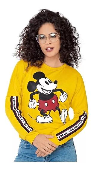 Sudadera Disney Cuello Redondo Estampada Mickey Leo3313 //