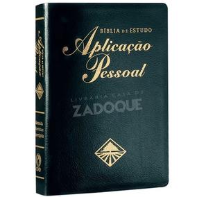 Bíblia De Estudo Aplicação Pessoal Média - Luxo - Preta