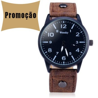 Relógio Promoção Pulseira De Couro Bom Barato!