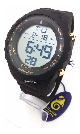 Relógio Atlantis Digital Sport Prova D´água Serie Ouro