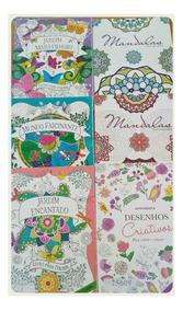 Frete Grátis: Kit Com 6 Livros De Colorir Para Adulto
