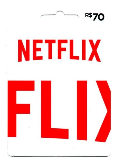 Cartão Presente Netflix Gift Card R$ 70 Reais Envio Digital