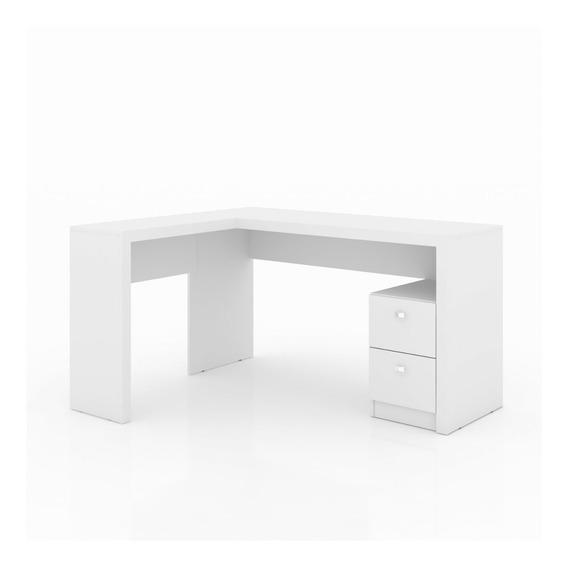 Mesa Para Escritório Em L 2 Gavetas Me4129 Tecno Fa