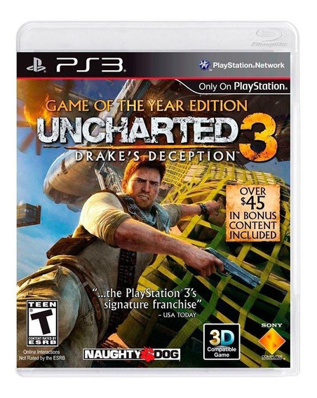 Uncharted 3 Drakes Deception Goty Ps3 Mídia Física Lacrado