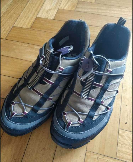 Zapatillas Merrell Waterproof Color Gris Oscuro T. 40-41