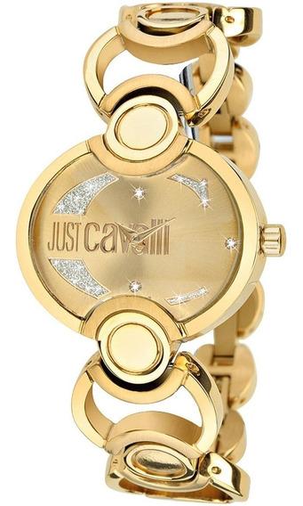 Relógio Feminino Dourado Original Just Cavalli Ouro 18k Luxo
