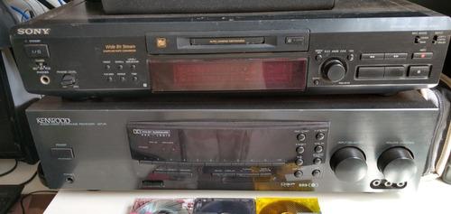 Som Montado Sony Md Player Je 530 + Receiver Kenwood + Caixa