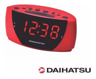 Radio Reloj Digital Gran Display Daihatsu Drr18 Rojo