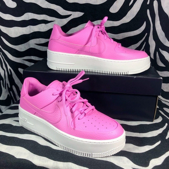 Nike Air Force Con Plataforma Rosa Chicle