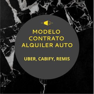 Modelo Contrato Alquiler Auto Uber Cabify Remis