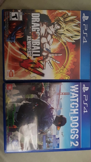 Dragonball Xenoverse + Watch Dogs2 Ps4 Midia Fisica