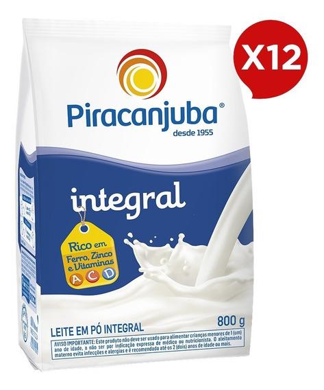 Combo Leite Em Pó Integral Piracanjuba 12x800g Pouch