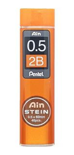 Grafite Pentel Ain Stein Original 0,5mm 40 Minas 7 Opções
