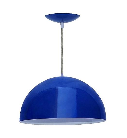 Pendente Lustre Luminária De Teto Meia Bola N04 Em Plástico