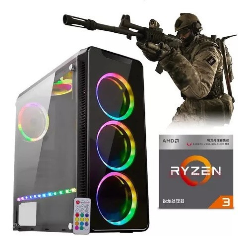 Desk Gamer Ryzen 3 3200g + 8gb Ddr4 + Rx560 4gb + Ssd 240gb