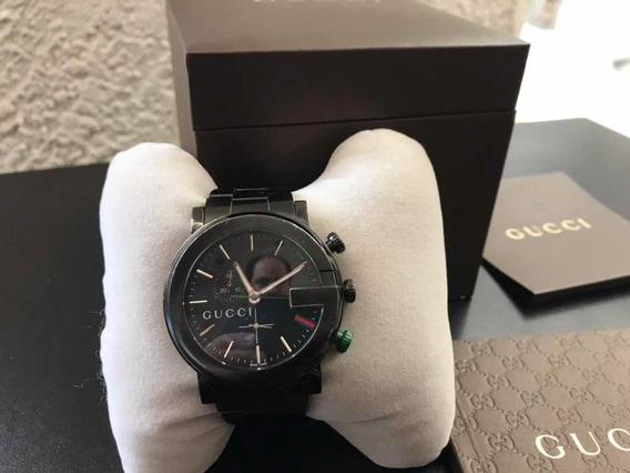 Reloj Gucci Hombre Original Cronógrafo Mod 101 Acero Black