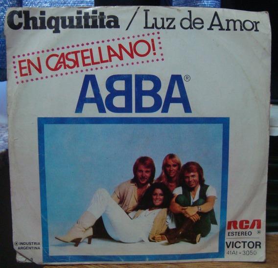 Simple C/ Tapa Abba Chiquitita En Castellano Promo Ex-