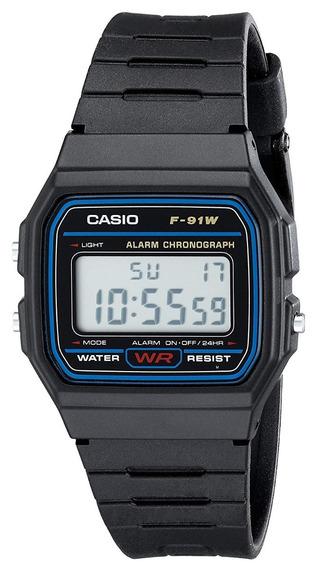 Reloj Casio F91w-1 Deportivo Digital Con Correa De Resina