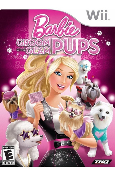 Barbie Groom And Glam Pups Wii Lacrado