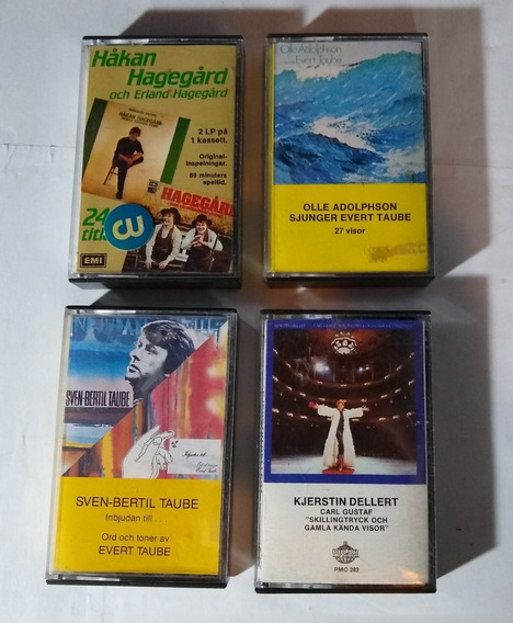 Lote De Cassettes Importados De Suecia Sven-bertil Taube !!!