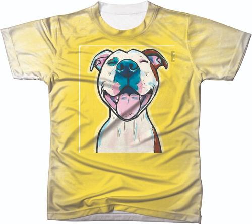 Imagem 1 de 2 de Camisa Camiseta Personalizada Cachorro Pit Bull 03