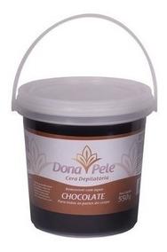 Cera Depilatória Dona Pele Chocolate Hidrossolúvel 550g