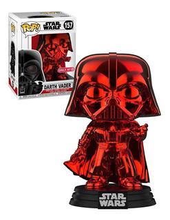 Funko Pop Darth Vader Exclusivo Cromado Rojo Star Wars # 157