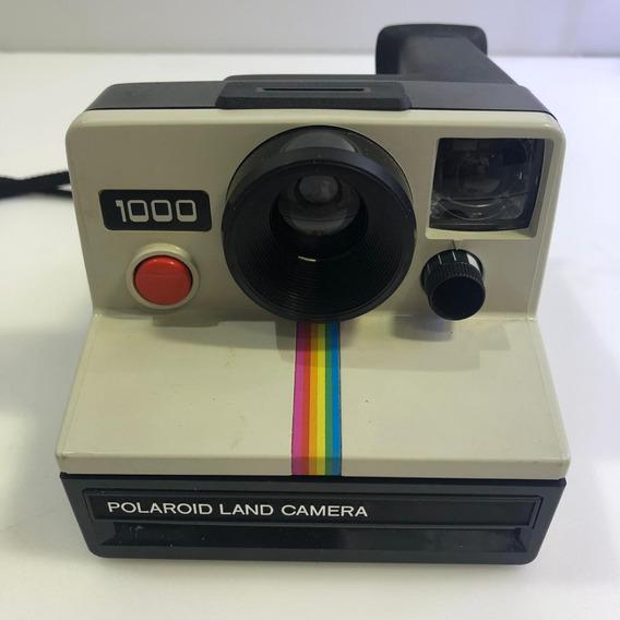 Câmera Polaroid Land 1000 Antiga Usada