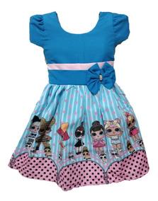 Vestido Temático Infantil Tema Minnie Lol Masha Ladybug