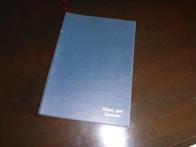 Álbum Cédulas Postais Envelopes Para 120 Peças