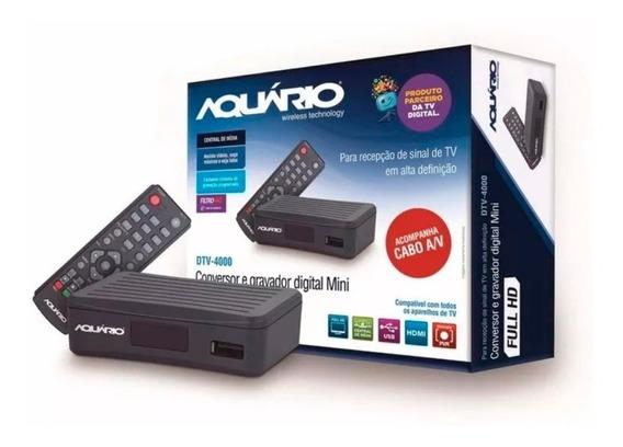 Conversor E Gravador Digital Tv Full Hd Aquário - Dtv-4000s