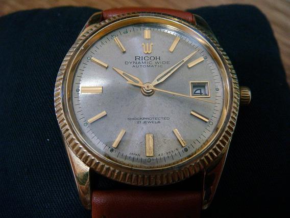 Clásico Reloj Ricoh Automático Vintage. Chapa De Oro.
