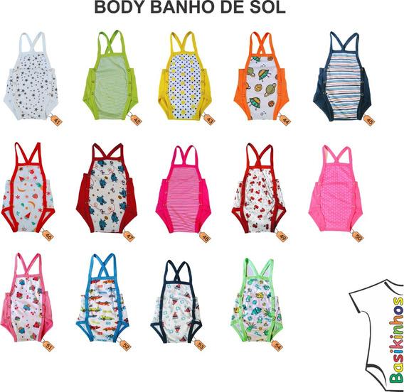 Roupas De Bebê - Body Banho De Sol - Kit 10 Peças Rn Ao Gg