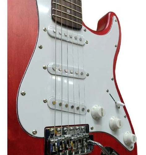 Guitarra Electrica Onas Stratocaster Palanca St Red Wood
