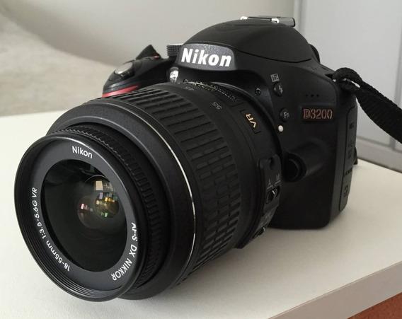 Câmera Nikon D3200 Lente 18-55mm +bolsa +32gb