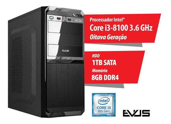 Microcomputador Desktop Evus Modelo Trend 1008 Oitava Geraç