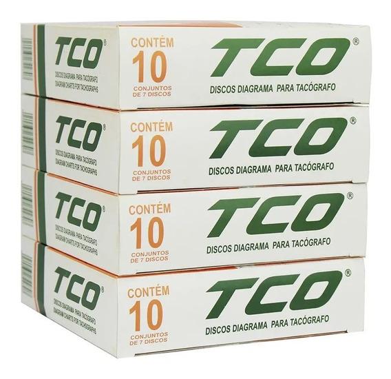 Disco Tacógrafo Diário 125km/h Tco Kit Com 10 Caixas