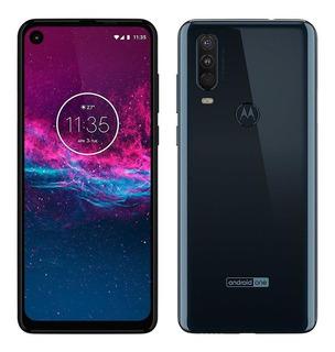 Smartphone Motorola One Action, Azul Denim,tela 6.34 , 128gb
