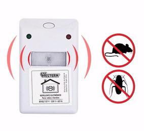 Repelente Eletrônico Para Ratos Baratas Bivolt Western Rep-