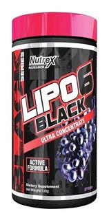 Lipo 6 Black Em Pó 120g Nutrex Termo Diurético Uva