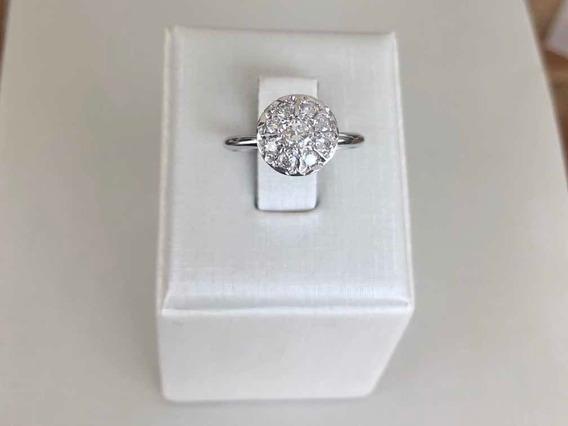 Anel Chuveiro Diamantes Ouro 18k Solitario