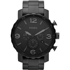Relógio Fossil Masculino Ref: Jr1401/4pn Big Case All Black