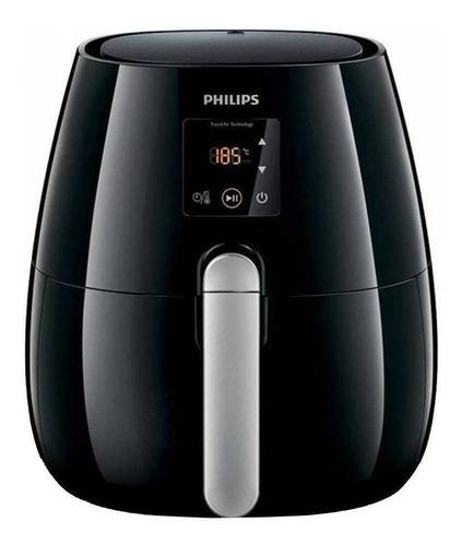 Freidora eléctrica sin aceite Philips Viva Collection Airfryer Digital HD9230 negra y plata 230V