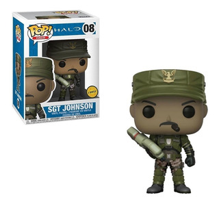Funko Pop! Sargent Johnson Chase 08 Halo Muñeco Original