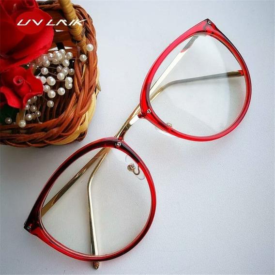 Armação Óculos De Grau Feminino Blogueira, Promoção
