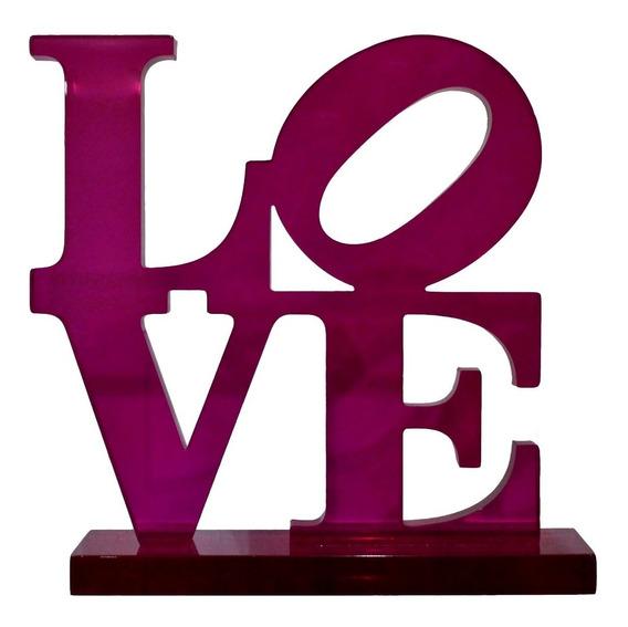 Escultura Love En Acrílico